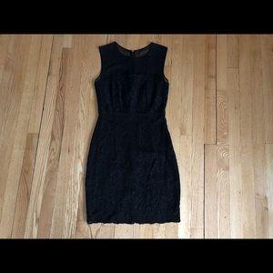 DIane Von Frustenberg Black Lace Dress 100% silk